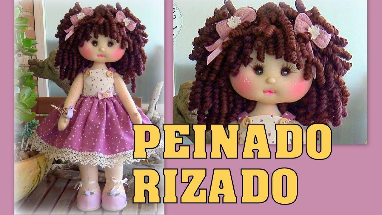 Peinado Rizado Muneca Judith Manualilolis Video 427 Youtube Bonecas De Pano Boneca De Crochet Bonecas