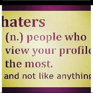 Funny Facebook Status About Haters