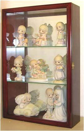 Wall Curio Cabinet Precious Moments Figurines Display Case Glass Door Mirrored Back Cd01b C Wall Curio Cabinet Figurine Display Precious Moments Figurines