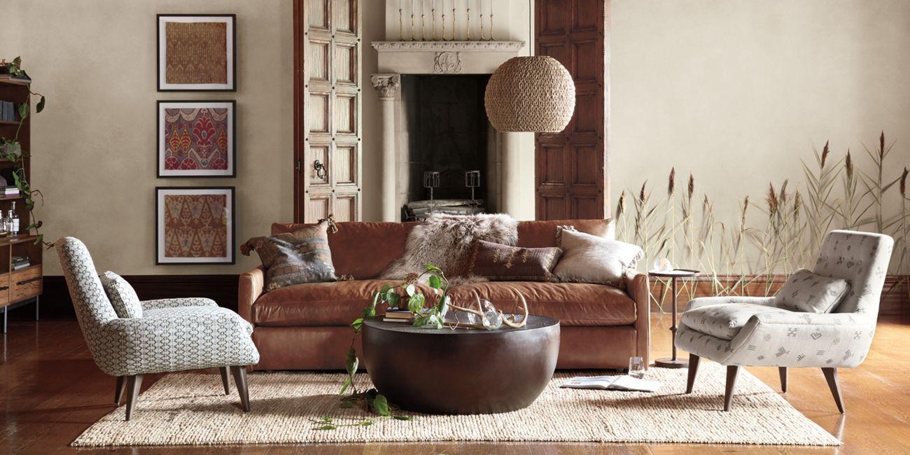 Kipton Leather 94 Sofa With Images Arhaus Living Room