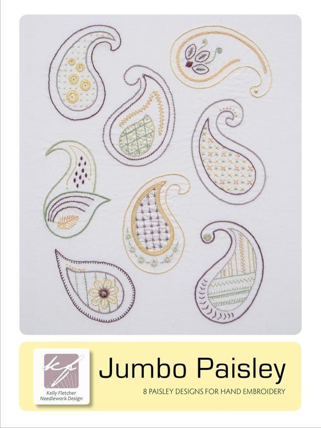 Jumbo Paisley Embroidery Pattern Kellyfletcherneedleworkdesign