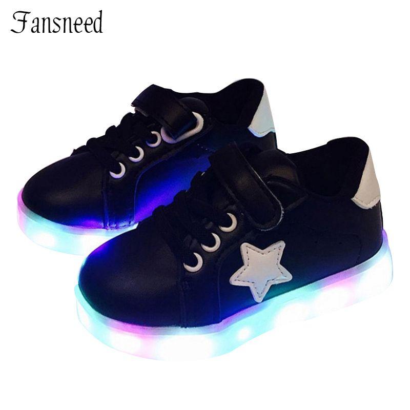 005d983027d7b 2017 New Children s Shoes Boys and Girls Tenis Led Infantil Colorful  Light-emitting LED Shoes Kids Flash Light Non-slip Sneakers