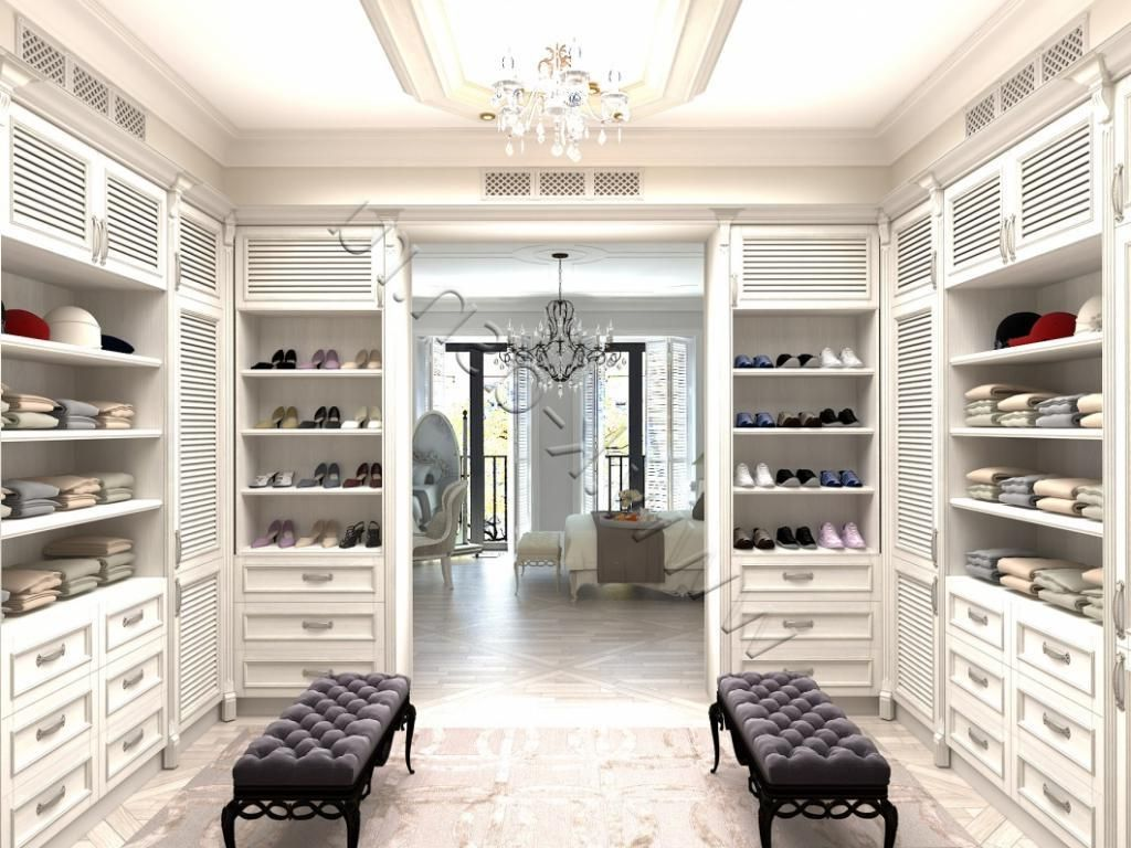 Best Adorable White Wooden Bedroom Design With Walk In Closet As Well Fancy Crystal Chandelier Also 400 x 300
