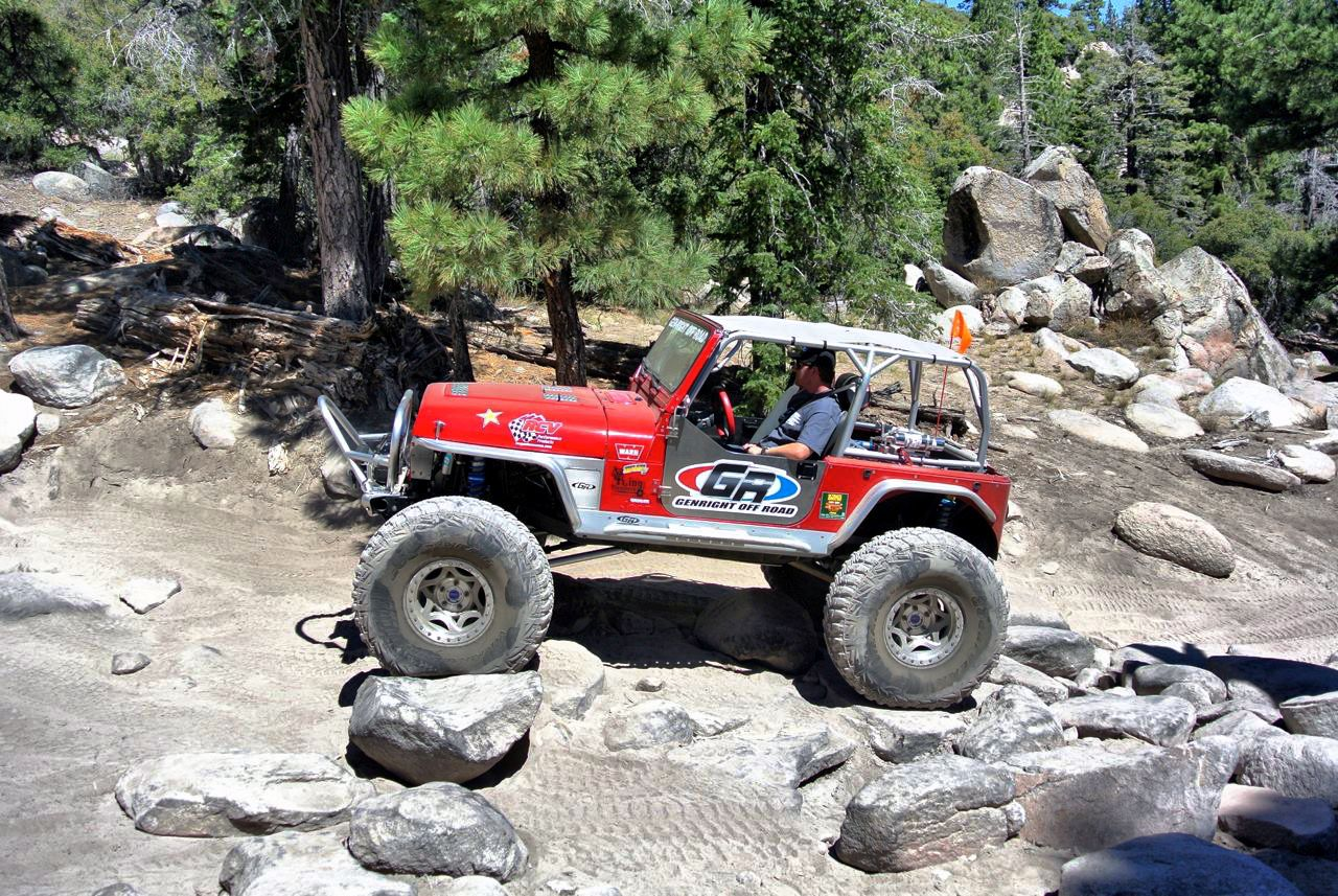Jeep Trails The Red Genright Jeep Yj On The Big Bear Forest Fest Trails