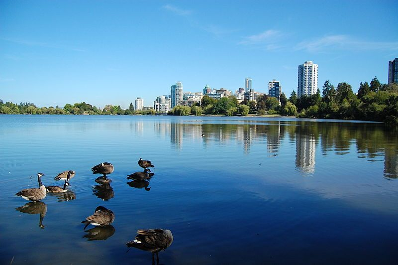 lost lagoon, stanley park, vancouver BC