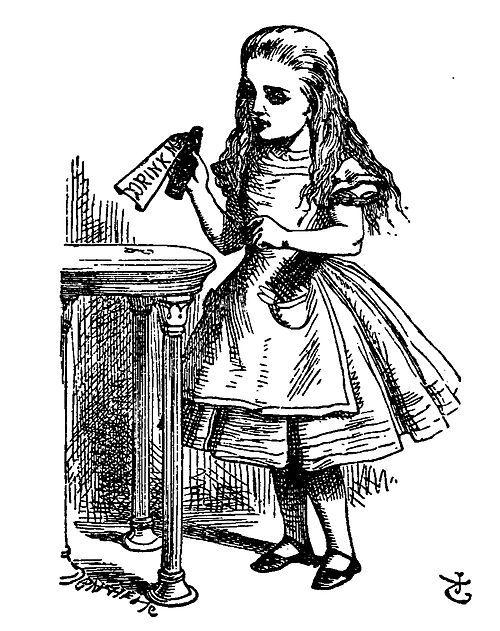 printable vintage alice in wonderland coloring pages