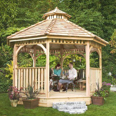 14 Cedar Wood Gazebo Designs Octagon Rectangle Hexagon And Oval Styles Patio Gazebo Luxury Landscaping Gazebo