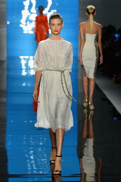 Reem Acra Spring 2013 is presented during Mercedes-Benz Fashion Week
