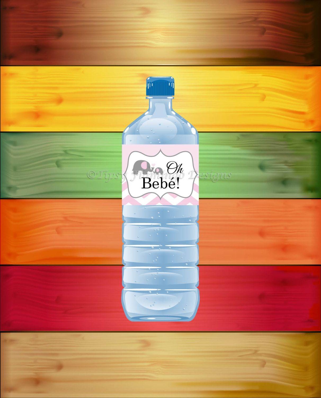 Water Bottle In Spanish: Oh Bebe, Spanish, Water Bottle Labels, Español, Pink