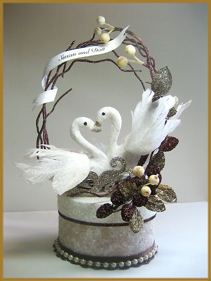 Quot Swans In Love Quot Wedding Cake Topper Image Cakes