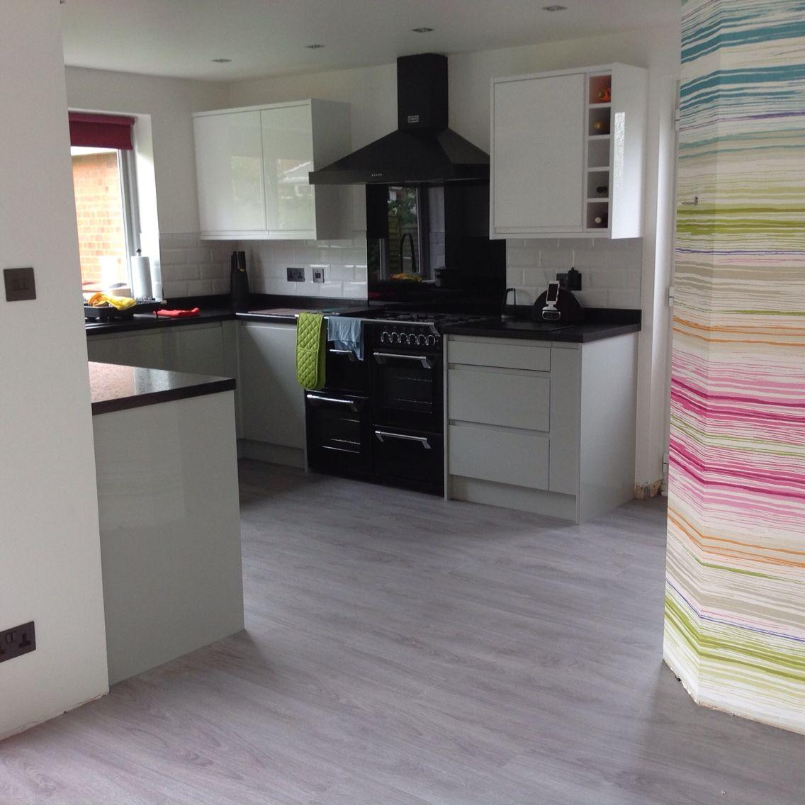 Kitchen floor finally done moduleo classic oak love the