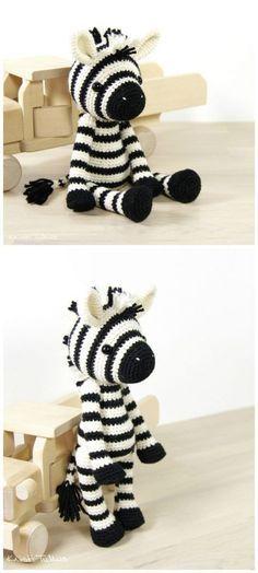 26 Free Crochet Zebra Patterns / Hat, Blanket, Amigurumi | Gehäkelte ...
