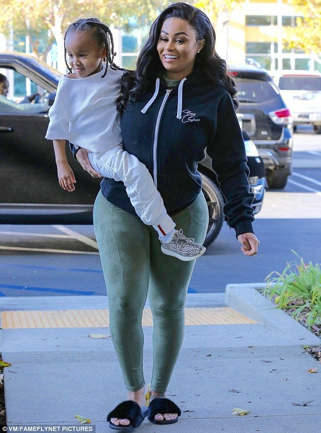 cb40c86e21a6e Flaunting it: Blac Chyna showed off her post-baby figure in Los Angeles on  Thursday