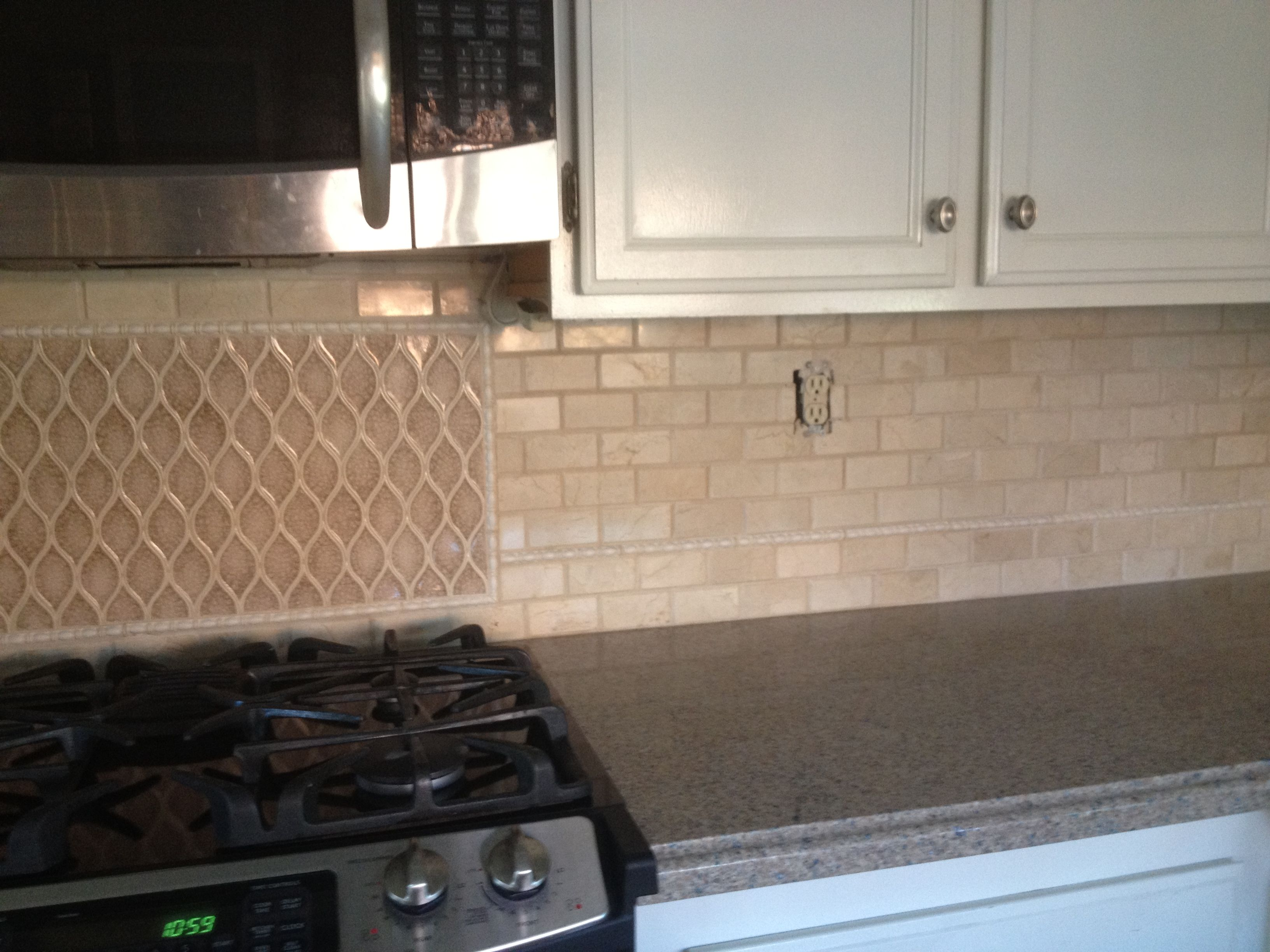 Tilework And Blue Sahara Silestone Counter Installed 2012