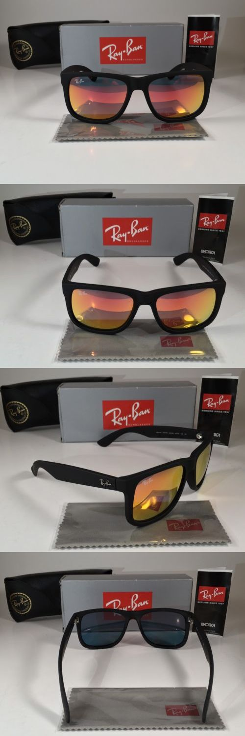 079c238beb53a Sunglasses 155189  New Ray-Ban Justin Rb4165 622 6Q 54Mm Matte Black Red  Mirror -  BUY IT NOW ONLY   75 on  eBay  sunglasses  justin  matte  black   mirror
