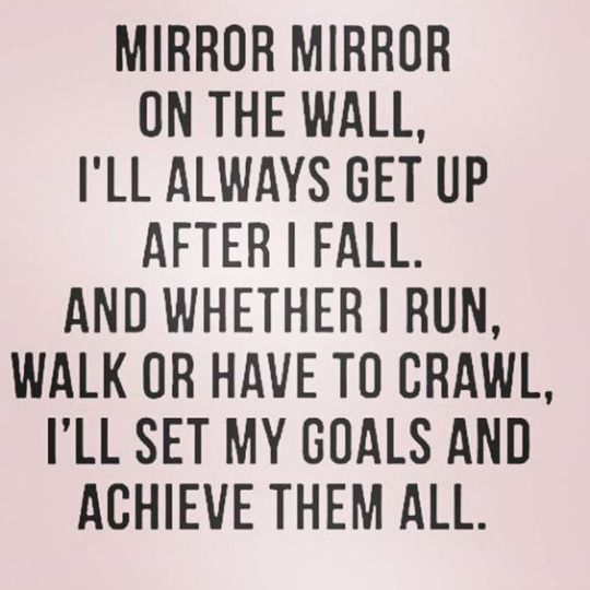 Goal Quotes Awesome Femestella  Motivation  Pinterest  Mirror Mirror Goal And Walls 2017