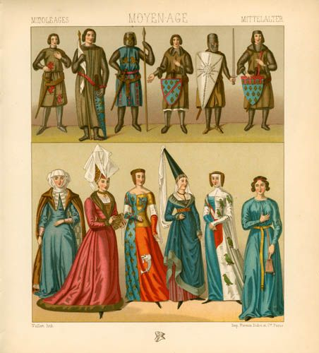 English medieval clothing