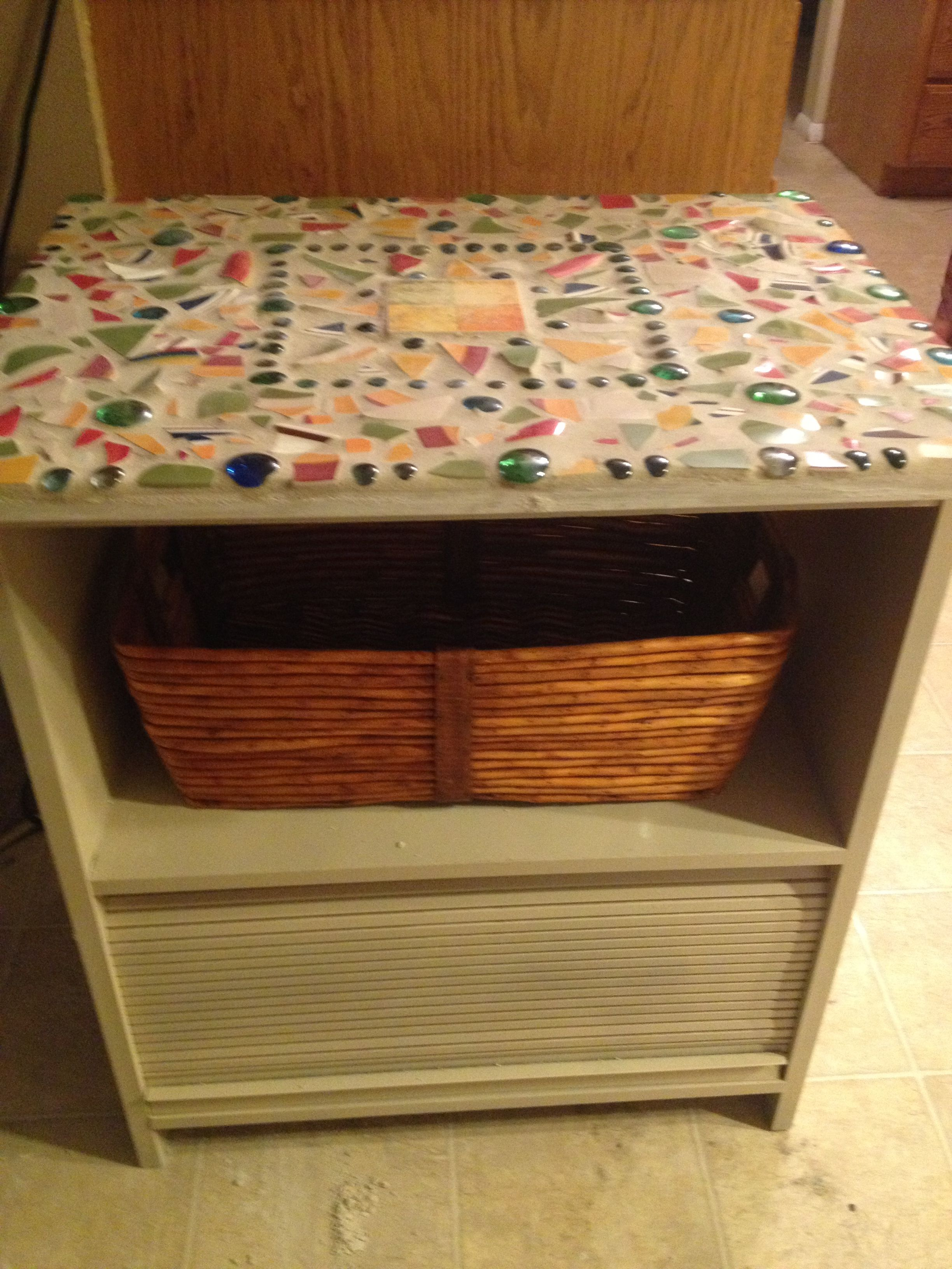 Repurposed Microwave Cart I Ve Been Using An Old Microwave Cart