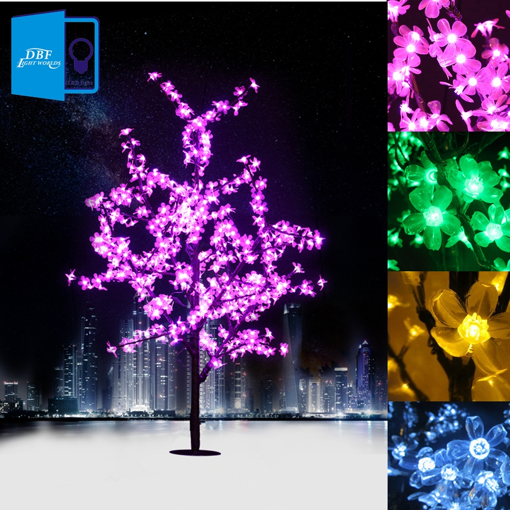 (188.16$)  Watch here  - 1.5M 1.8M LED Crystal Cherry Blossom Tree Lights Christmas New year Luminaria Decorative Tree Lamp Landscape Outdoor Lighting