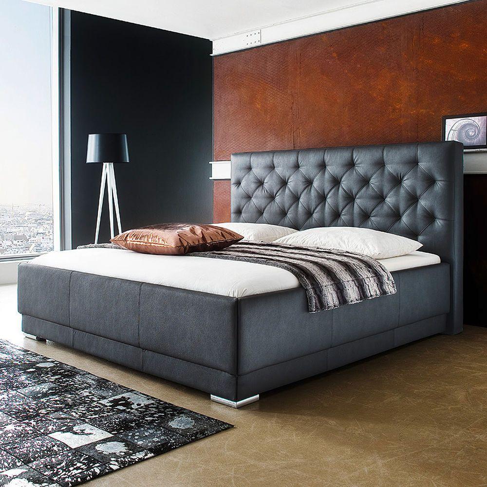 Polsterbett Pisa Doppelbett Bettgestell Bett schwarz inkl
