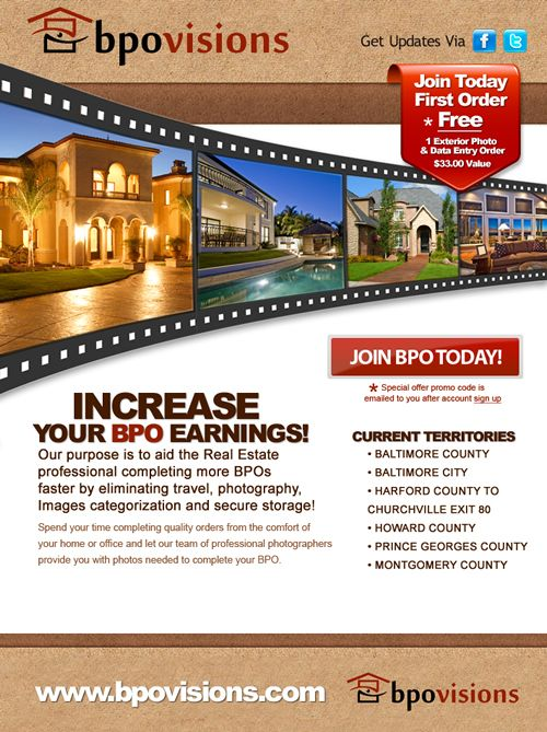 Professionally Designed Real Estate Mortgage Brokers Email Flyers