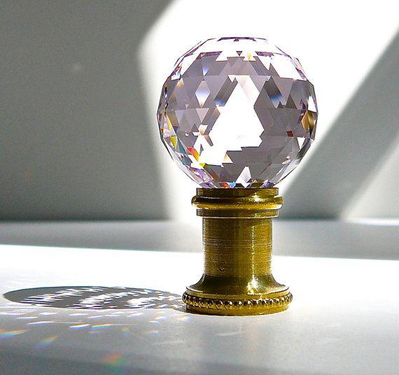 Crystal Lamp Finial 30mm 1 2 Swarovski Crystal Ball