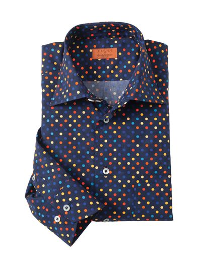 COLORI DOT PRINT SHIRT BY BRULI Is All About Color And Comfort With Soft Point Collar Long Sleeves Single Pocket Bruli Swiss Made Shirts Combine The