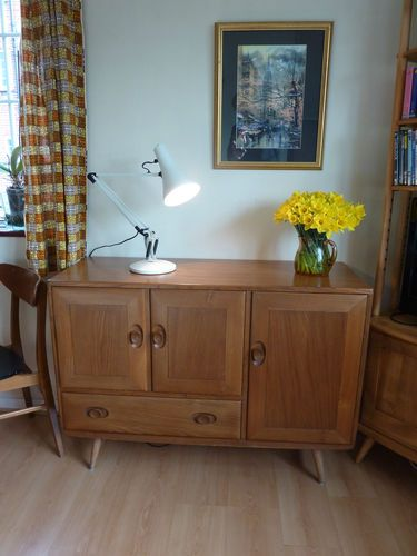 Ercol Solid Elm Dresser Sideboard Golden Dawn Finish ExCond 50s