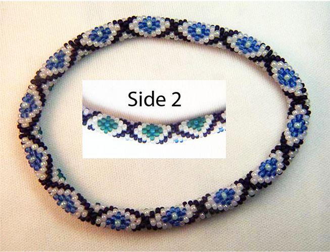 Blue Moon Diamond Bead Crochet Bracelet 399 Bead Patterns