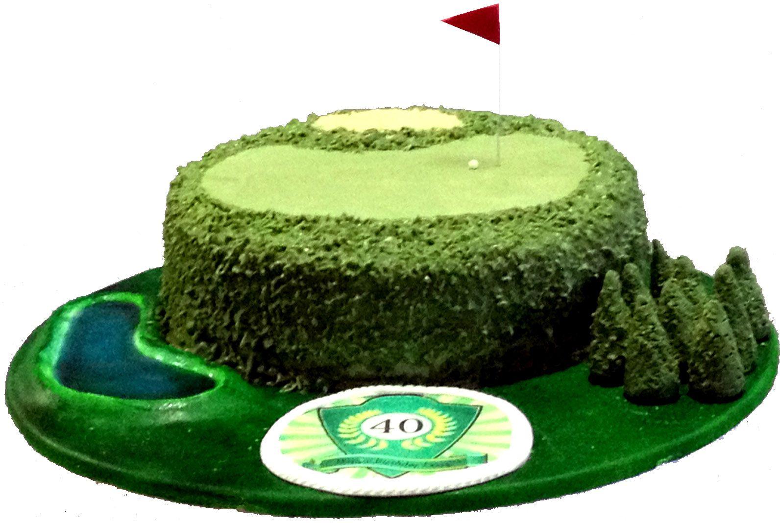 Golf Course Cake  Like us on Facebook @ www.facebook.com/Meli.Ann.Designs