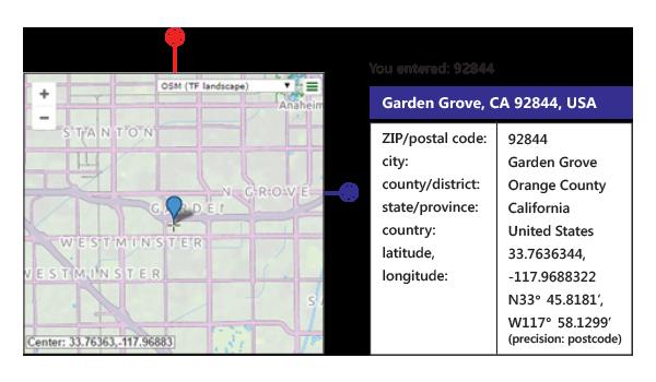 G-NAF – Melissa Geocode Address solution returns latitude