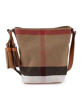 70cb9534a824 Ashby Canvas Check Crossbody Bag