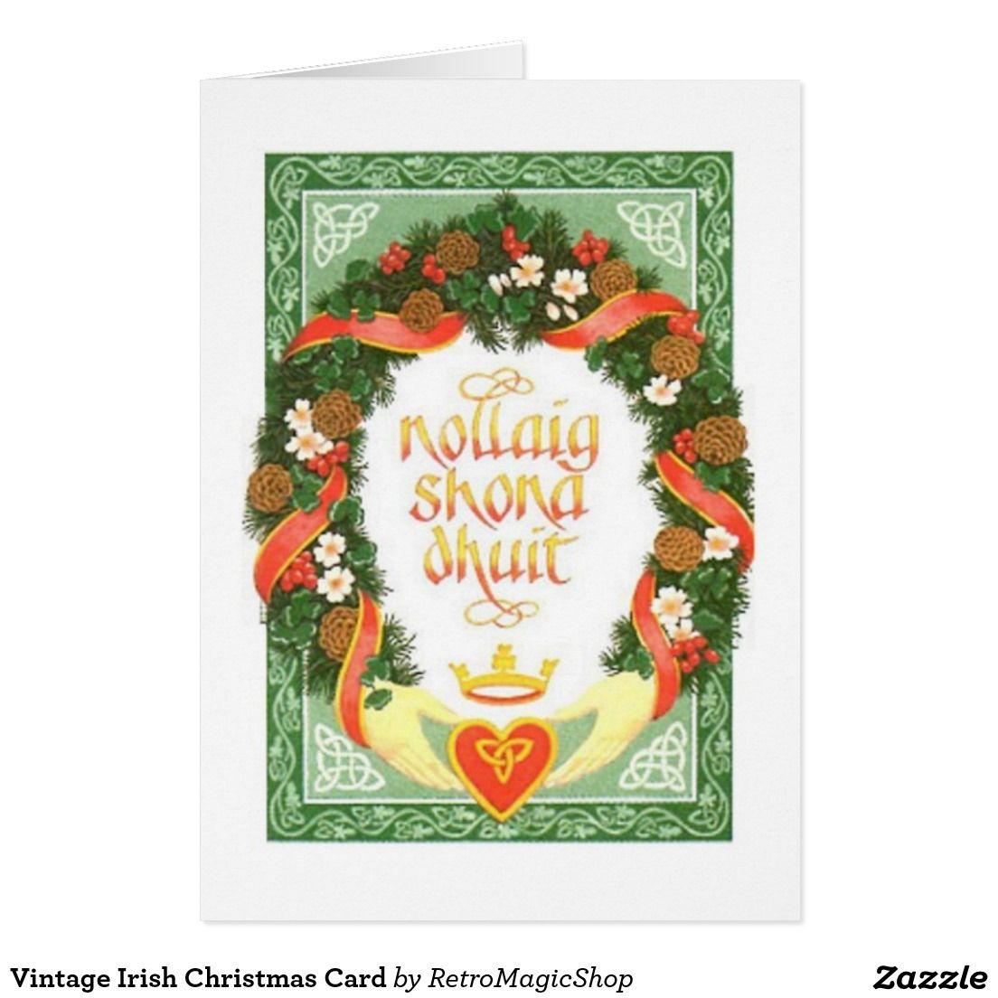 Vintage Irish Christmas Card | Custom CHRISTMAS CARDS | Pinterest ...