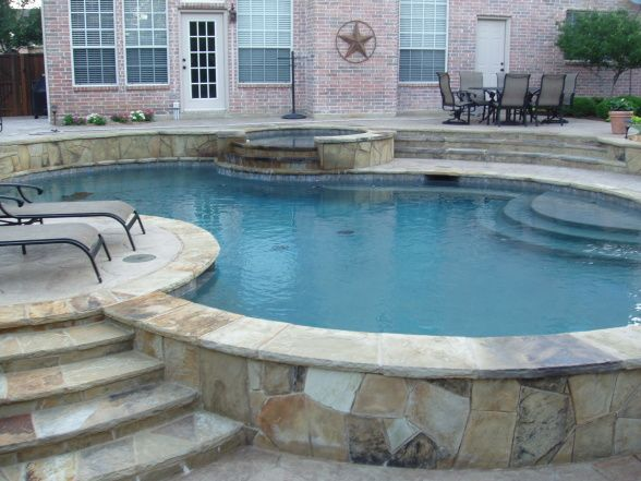 Information About Rate My Space Stone Around Pool Landscaping