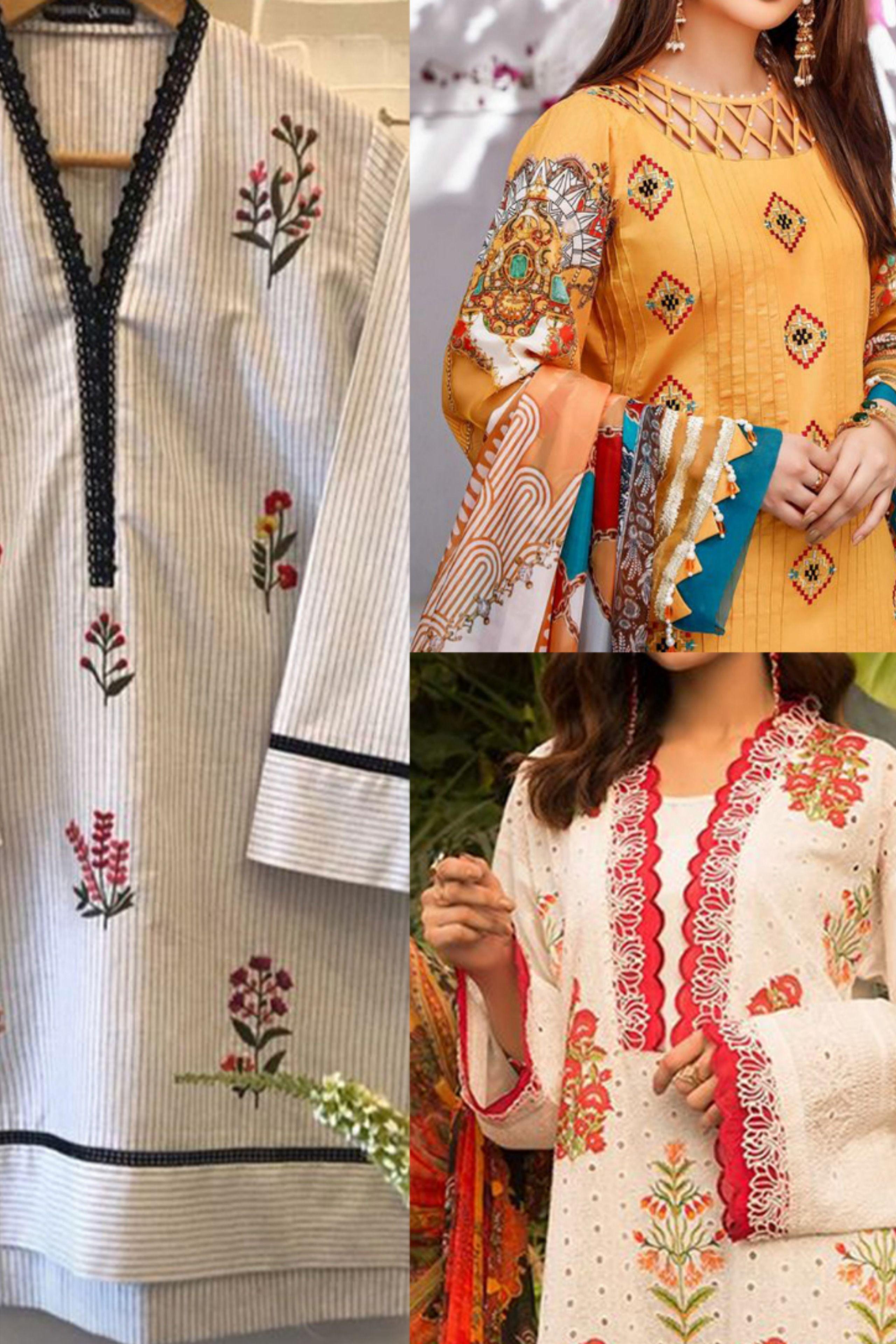 Lawn Dresses Design Ideas 2020 Stiching Ideas Pakistani Cotton Casual Ideas Design Eid In 2020 New Designer Dresses Comfortable Dress Designer Dresses