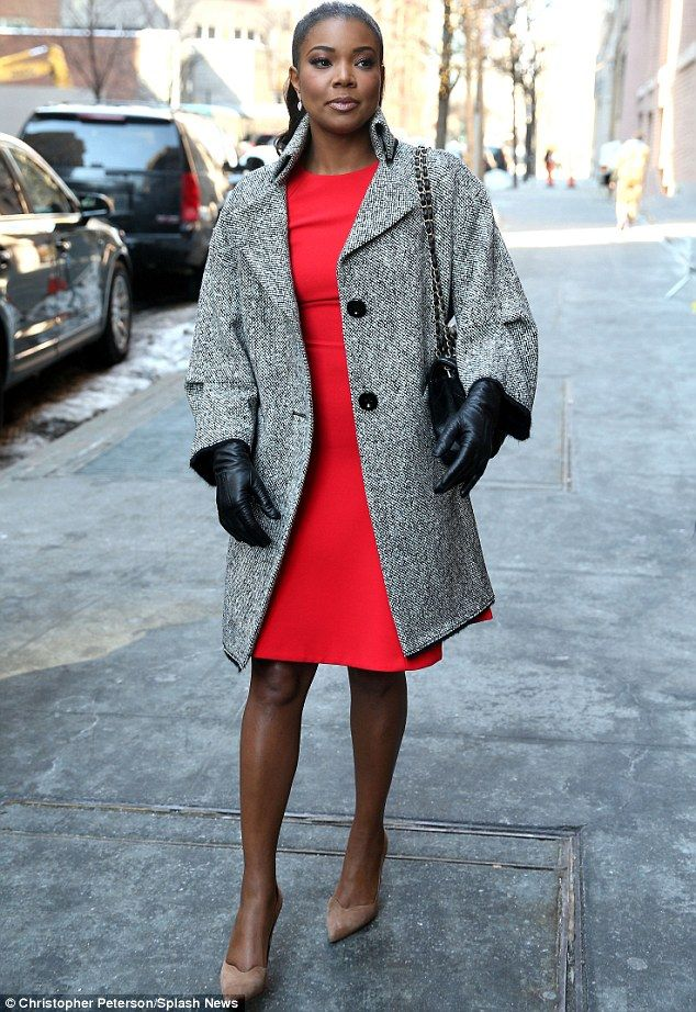 Gabrielle Union dons clinging bright red number on The View | Grey ...
