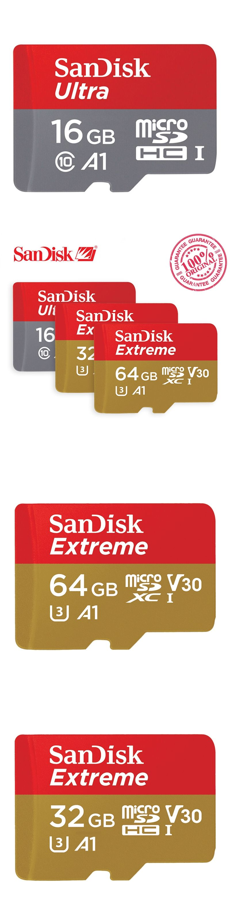 Sandisk Extremeultra Micro Sd Memory Card Uhs I Sdhc Sdxc C10 U3 New 48 Mb S 16gb Ultra 1 Class 10 Sdsqunb V30 A1