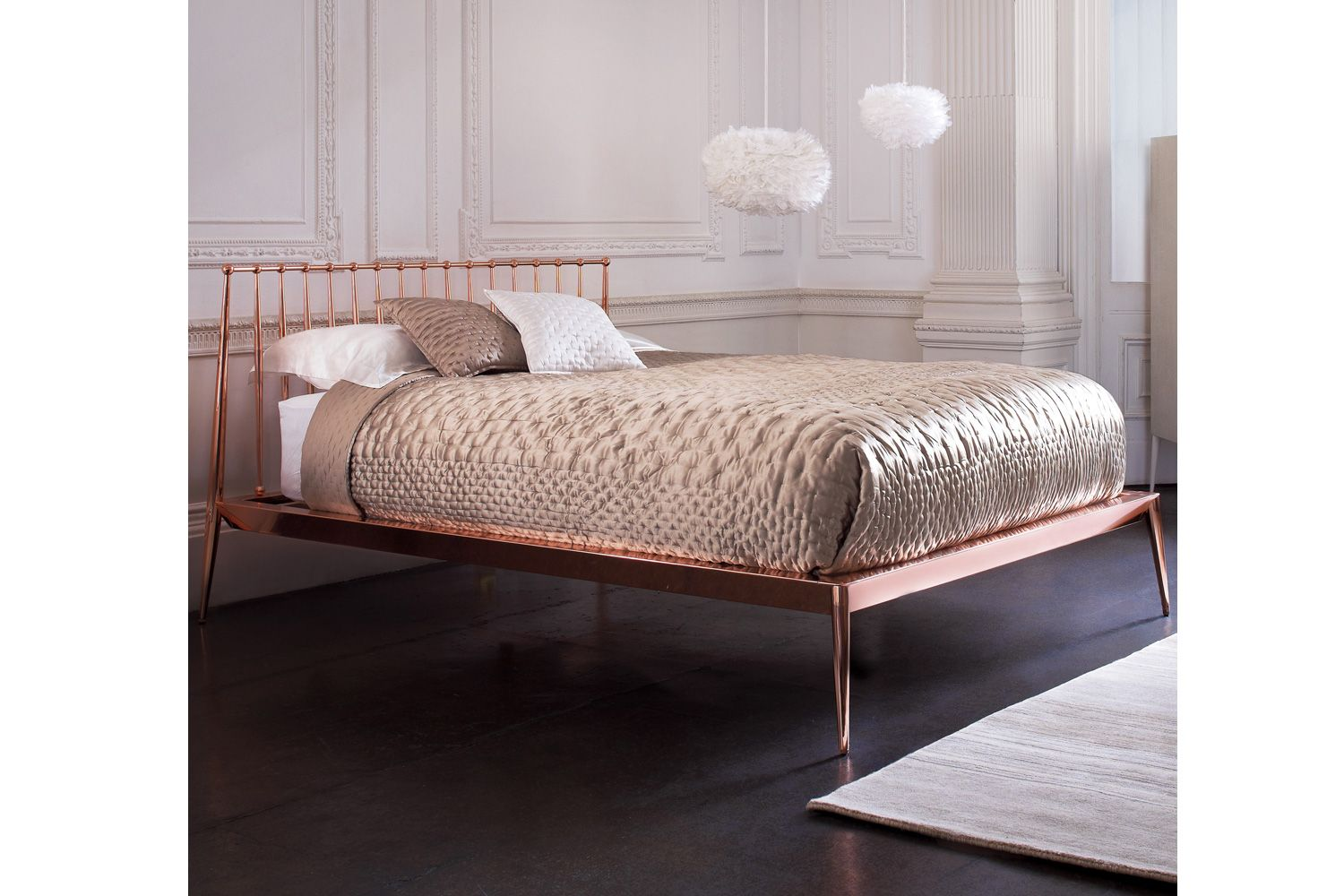I Love This Bed. Rose Gold...mmmm! Heal's