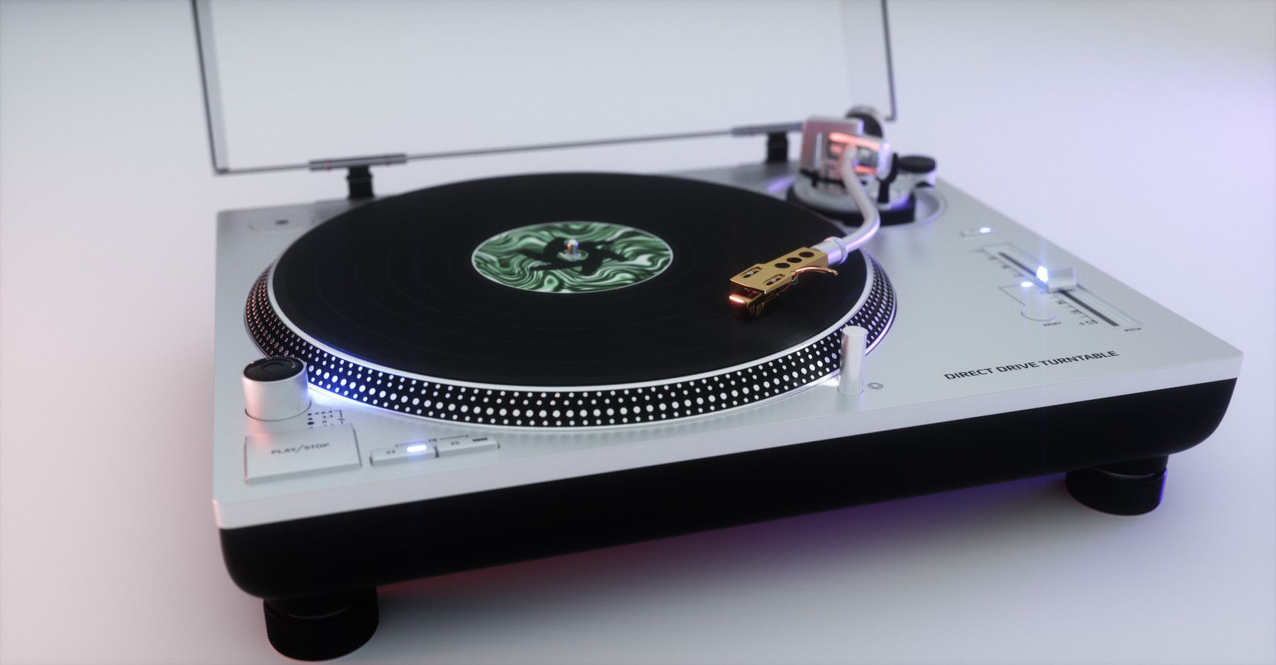 Technics Turntable 3d Model Vinyl Record Player Sl 1200gr Hard Surface High Poly Modeling And Product Rend Technics Turntables Vinyl Record Player Turntable