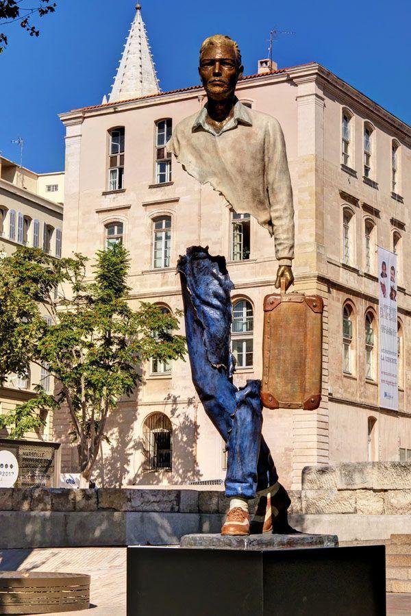 Marseille, France  – Panier Statues