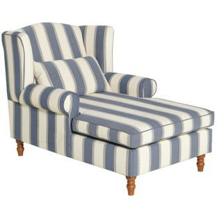 Buy heart of house padstow fabric chaise longue naval for Chaise lounge argos