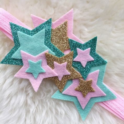 Felt Star Cluster Headband // twinkle twinkle от BakerBlossoms #hairclips