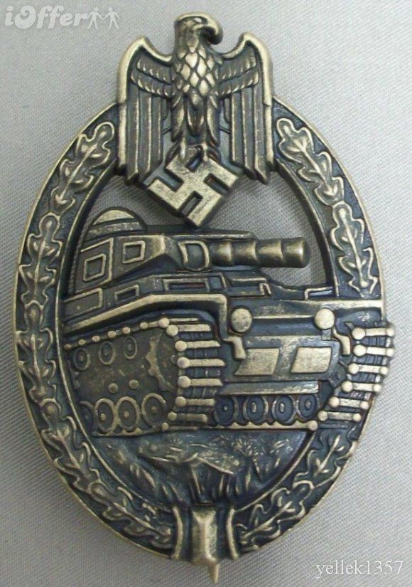 Ww2 german army panzer assault badge bronze badges also awarded at the 25 50 75 and 100 - German military decorations ww2 ...