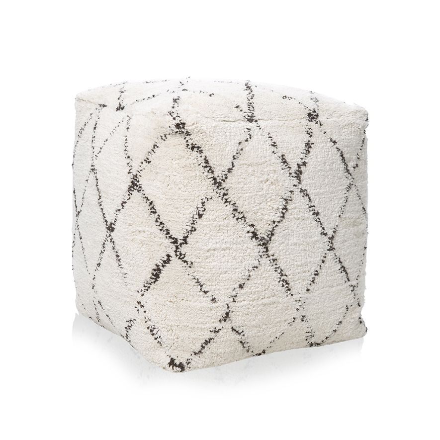 The Amherst Pouf is handwoven to reveal beautiful texture and craftsmanship. In a 45x45cm size it is large enough to act as a seat without taking up too much space in the room.