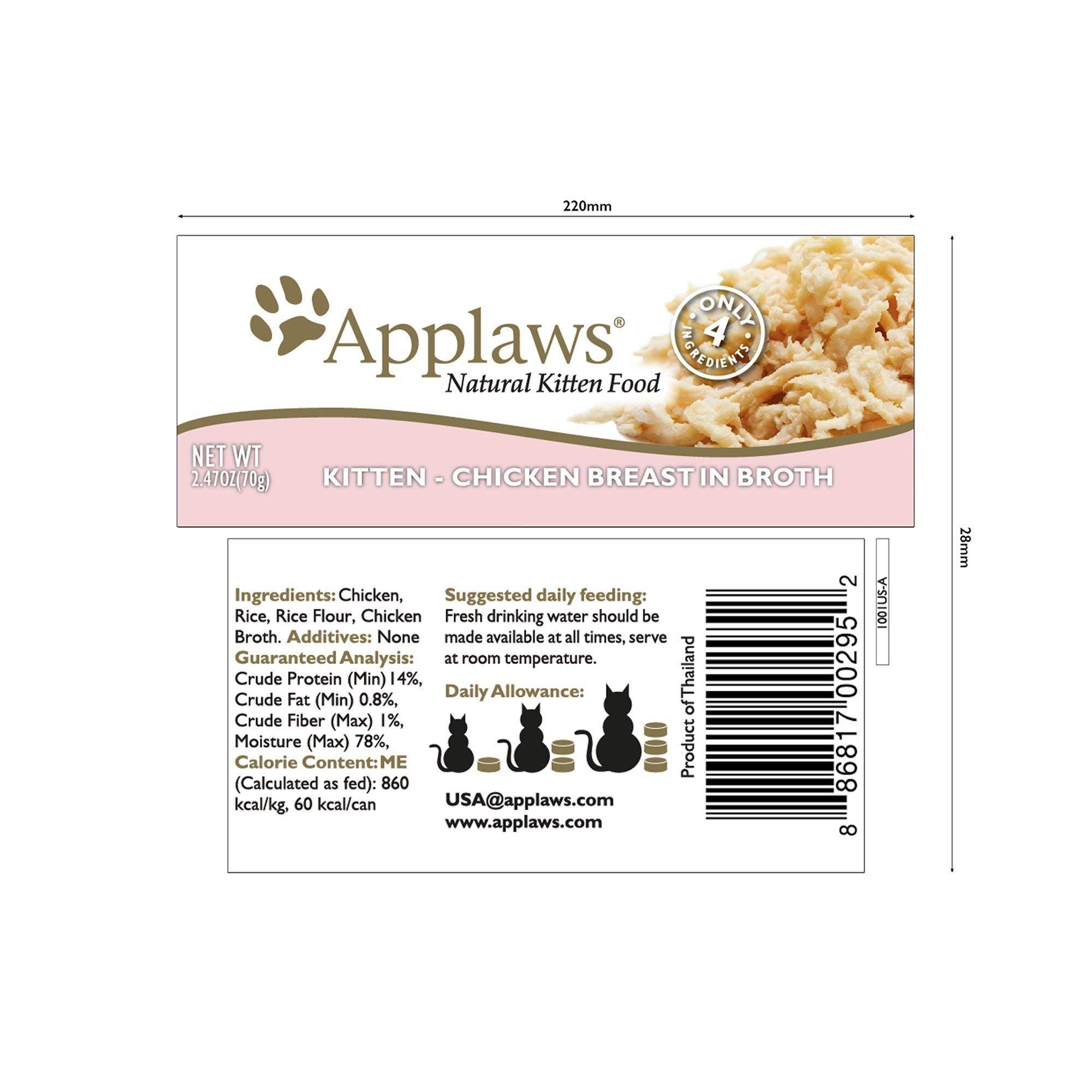 Applaws Chicken Kitten Food 2 47 In 2020 Kitten Food Canned Cat Food Food Net