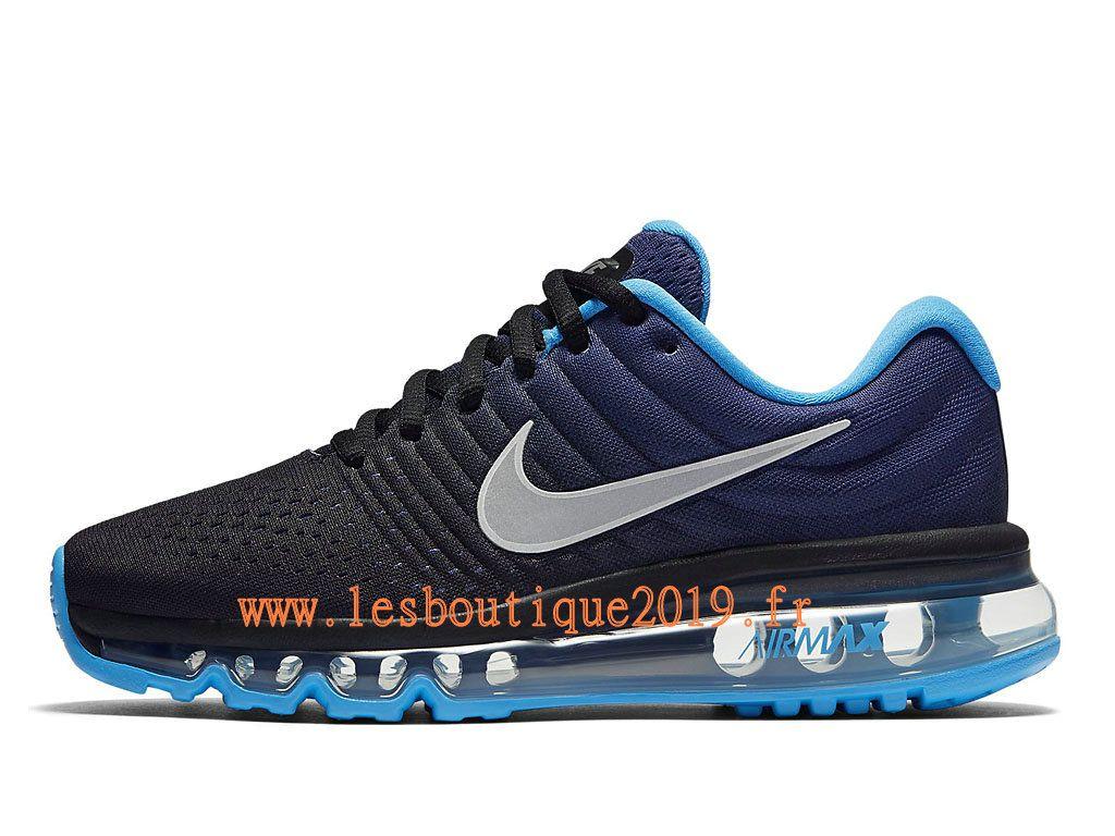 new product 74816 52e82 Nike Air Max 2017 GS Noir Bleu Chaussures Nike Running Pas Cher Pour  Femme Enfant