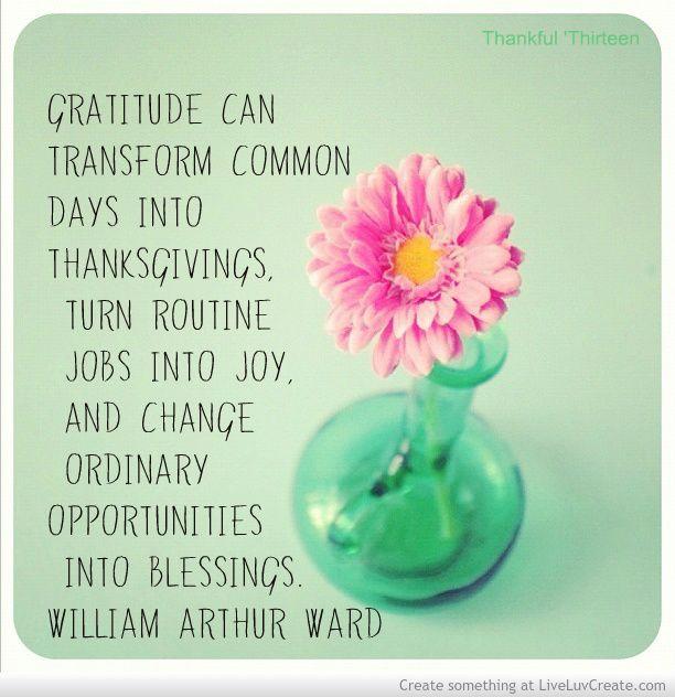 Gratitude transforms
