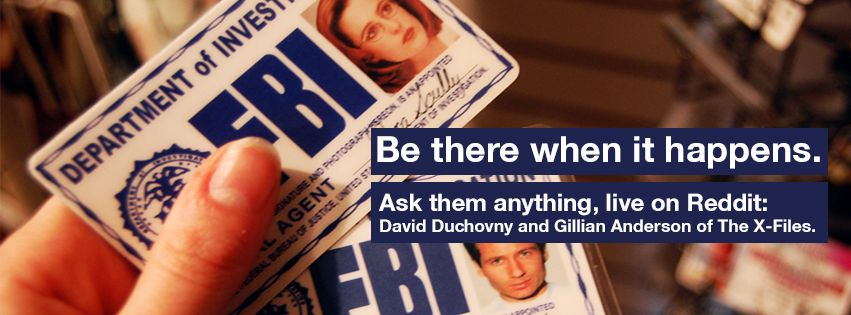 Ask them anything, live on Reddit: David Duchovny & Gillian Anderson of the #XFiles.
