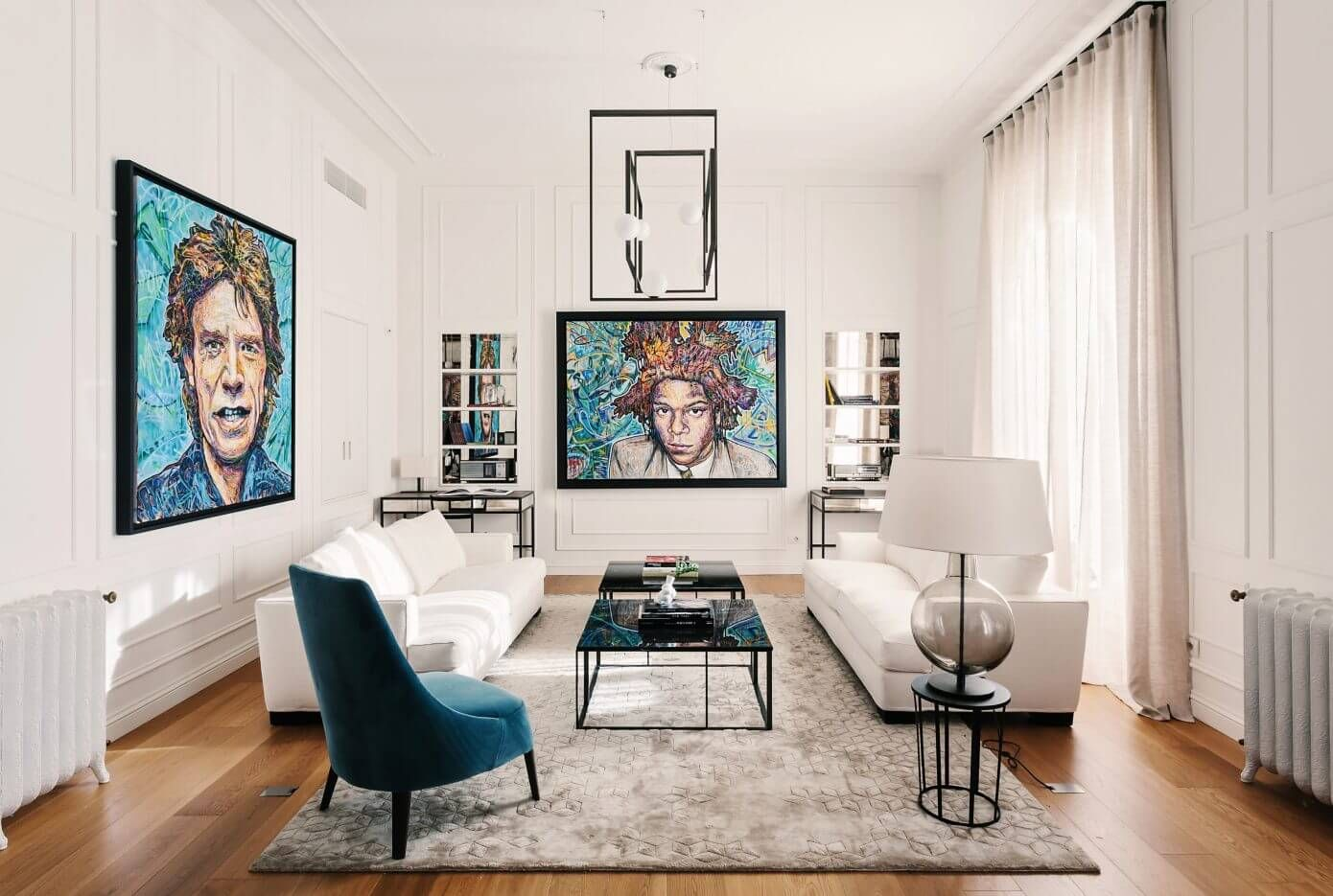 Luxurious apartment located in milan italy designed in 2016 by nomade architettura interior design
