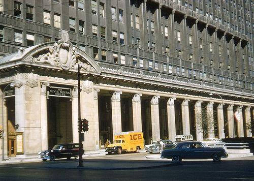 Kemper Insurance Building Opera House Entrance Sept 1955 C